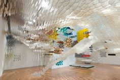 Jacob Hashimoto's Kite-Inspired Installation Soars at the MOCA Pacific Design Center