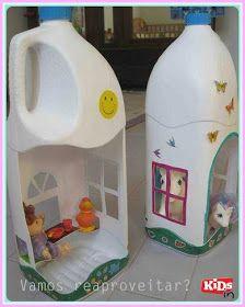 Doll houses from plastic bottles!!!