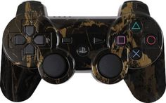 Black Gold Marble Custom PS3 Controller - Brand New PlayStation 3 Controller