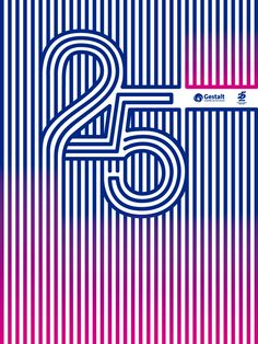 Cartel para el Centro de Estudios Gestalt. 25 Aniversario by Manolo G