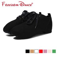 Canvas Jazz Dance Shoes Lace-Up Soft Split Soles Ballet Dance Shoes Gym  Yoga Fitness Karate Shoes Flat Sneakers Free Shipping. TOP DEALS 75b37a21d