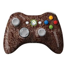 XBOX 360 controller Wireless Glossy WTP-293-Swirl-Burlwood Custom Painted- Without Mods