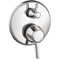 Hansgrohe C Pressure Balance Trim with Diverter. Uses iBox rough valve (pressure balance or thermostatic)