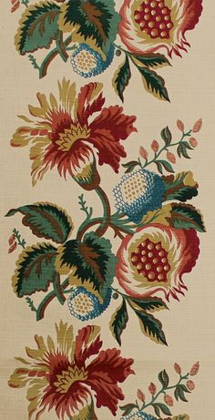 Scalamandre Pomegranate print, jewel traditionally pretty - for my den?