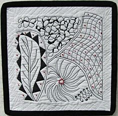Zentangle quilt. As a Zentangle enthusiast with a brand new Singer, I must give this a go!