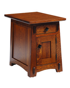 Shown in Quarter-Sawn White Oak. Also available in Red Oak and Cherry. All drawers include full extension glides.