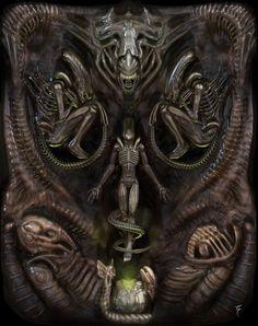 """ArtStation - """"Aliens"""" , Morador de Sueños"""