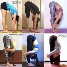 "2,617 Me gusta, 36 comentarios - YOGA DIGEST™ (@yoga_digest) en Instagram: ""Very inspiring progress photos showing Uttanasana. (Forward Bending Pose) Photo: @martina_sergi"""