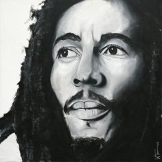 Bob Marley II Painting. Reggae Style, Reggae Music, Jamaican Art, Bob Marley Art, Marley Family, Nesta Marley, The Wailers, Great King, Black Women Art