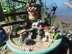 part of the lakeside fairy garden.