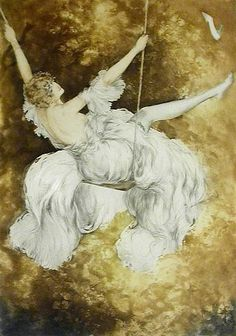 Louis Icart. ah Icart's The Swing, you know, i may prefer this one to Fragonard's.