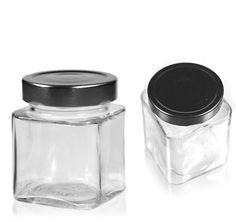 106 ml rectangular design jar Glass Jars, Candle Jars, Mason Jars, Candle Holders, Pots, Container, Canning, Metal, Design