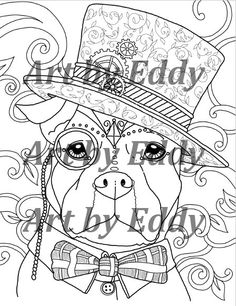 Art of Pibble Single Coloring Page