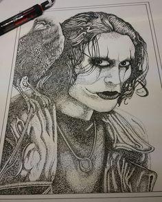 The crow pointillism