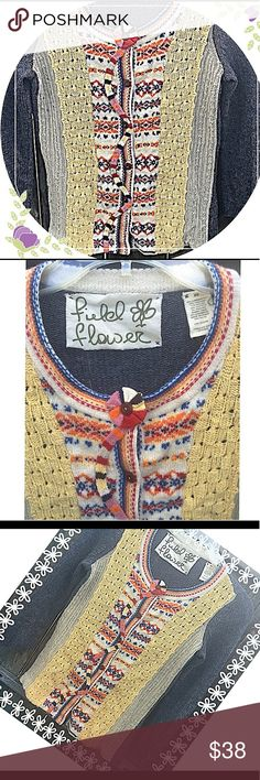 Cardigan by Field of Flowers for Anthropology Gorgeous Boho inspired Cardi by Field Flowers for Anthropologie in GUC with lots of life left!  SZ XS Anthropologie Sweaters Cardigans