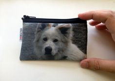 Custom pet portrait wallet gift for pet owners by efratul on Etsy