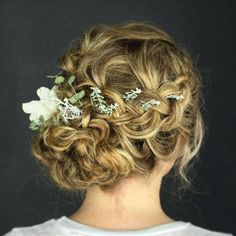 Braid And Side Bun Curly Updo