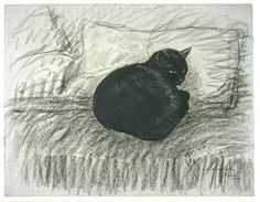The Silence and the Cat - Theophile Steinlen