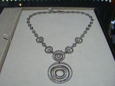 FINE ITALIAN DESIGNER CIRCLE DIAMOND NECKLACE HAND MADE 2.50 CARATS   #Handmade #Pendant