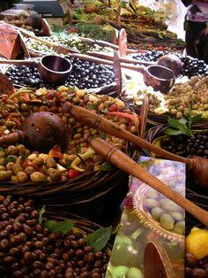 Olives for sale at the market
