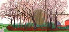 David Hockney Six Part Study for Bigger Trees 2007