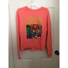 Marvel crewneck sweater Marvel pullover sweater, coral color, never worn, XL in juniors  No trades or Paypal ✅ Bundles are welcome   Fast shipping  Make me an offer below Sweaters Crew & Scoop Necks