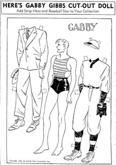Gabby Gibbs Comic Strip and Paper Dolls | YesterYear Once More - August 1935