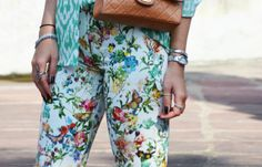 ZARA New 2013 Flower Floral PRINTED TROUSERS (M, XL) Ref. 2697/746