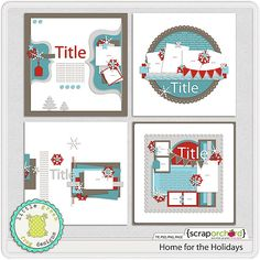 Digital Scrapbook - Home for the Holidays | Little Green Frog