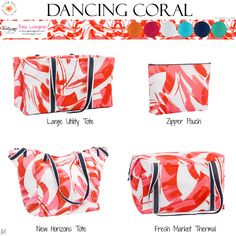 Available March 1st – August 31st, while supplies last. Trina Lovegren, Thirty-One Consultant www.trinalovegren.com Thirty One Totes, Thirty One Gifts, Thirty One Consultant, One Summer, March 1st, New Bag, New Print, Zipper Pouch, Coral