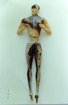 """Kouros"" figure from Crete, late Minoan"