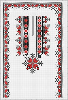 Folk Embroidery, Cross Stitch Embroidery, Embroidery Patterns, Cross Stitch Borders, Cross Stitch Patterns, Palestinian Embroidery, Denim Crafts, Booties Crochet, Chart Design