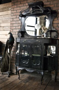 Large Victorian Ebonised Cabinet