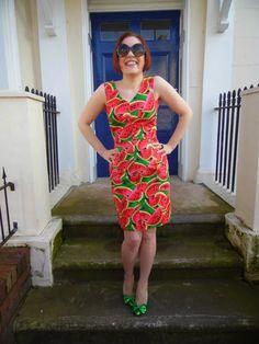 Margarita dress - By Hand London 'Sophia' dress in watermelon print cotton poplin