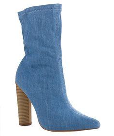 ROF #Women's #Fashion Slip On Comfy Pointy Toe Block Heel Ankle #Booties  #theladybuff #amazon.com
