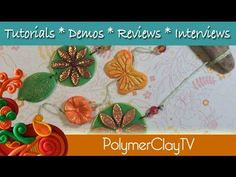 Flower Power Hanging how to make outdoor garden art with polymer clay cutters molds and stamps - YouTube