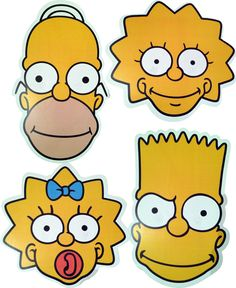 - The Simpsons - Fun Licensed Face Masks - 4 To Choose From & Multipack - Free P&P The Simpsons, Simpsons Cake, Simpsons Party, Bart Simpson, Wall Paint Inspiration, Famous Cartoons, Happy B Day, Art Fair, Caricatures