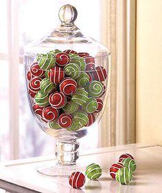 Holiday Swirl Decorative Ball Set Holiday & Christmas Decor #eBayCollection #FollowItFindIt #SPON