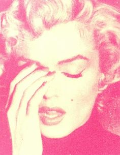 Russell Young, Marilyn Crying (Cream + Suicide Pink)
