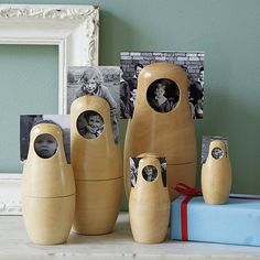 Babushka Doll Photo Frames by Catkin Collection: Nesting dolls which double as photo frames. Also available in black. #Catkin_Collection by tisha