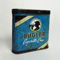 Vintage Bugler Cigarette Case Pocket Tobacco Tin