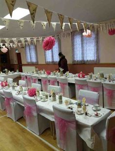 Littlebeck Hall Decorated For Vintage Afternoon Tea Wedding Reception