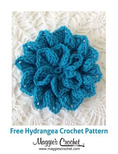 Hydrangea Free Crochet Pattern from Maggie's Crochet Blog.
