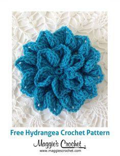 Hydrangea Free Crochet Pattern from Maggie's Crochet Blog.