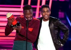 Big night: Best Kiss was awarded to Ashton Sanders and Jharrel Jerome who starred in the Academy Awards Best Picture Moonlight