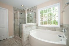 Owner's suite bathroom in the Brooks Craftsman KS