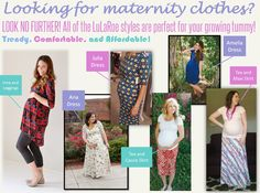 LuLaRoe is great while you're pregnant! Come join my group and do your maternity shopping here (facebook.com/groups/lularoesandrawoock) If you have any questions about sizing or styles, let me know!! lularoesandrawoock@gmail.com