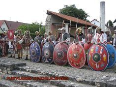 A great selection of Dura Europos style shields of the Popvlares Vindelicenses.