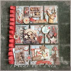 Christmas pocket letter with StudioLight papers Pocket Pal, Pocket Cards, Atc Cards, Journal Cards, Smash Book, Pocket Scrapbooking, Scrapbooking Ideas, Project Life Cards, Christmas Paper Crafts