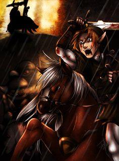 Zelda TP: horse battle by Winter Spectrum